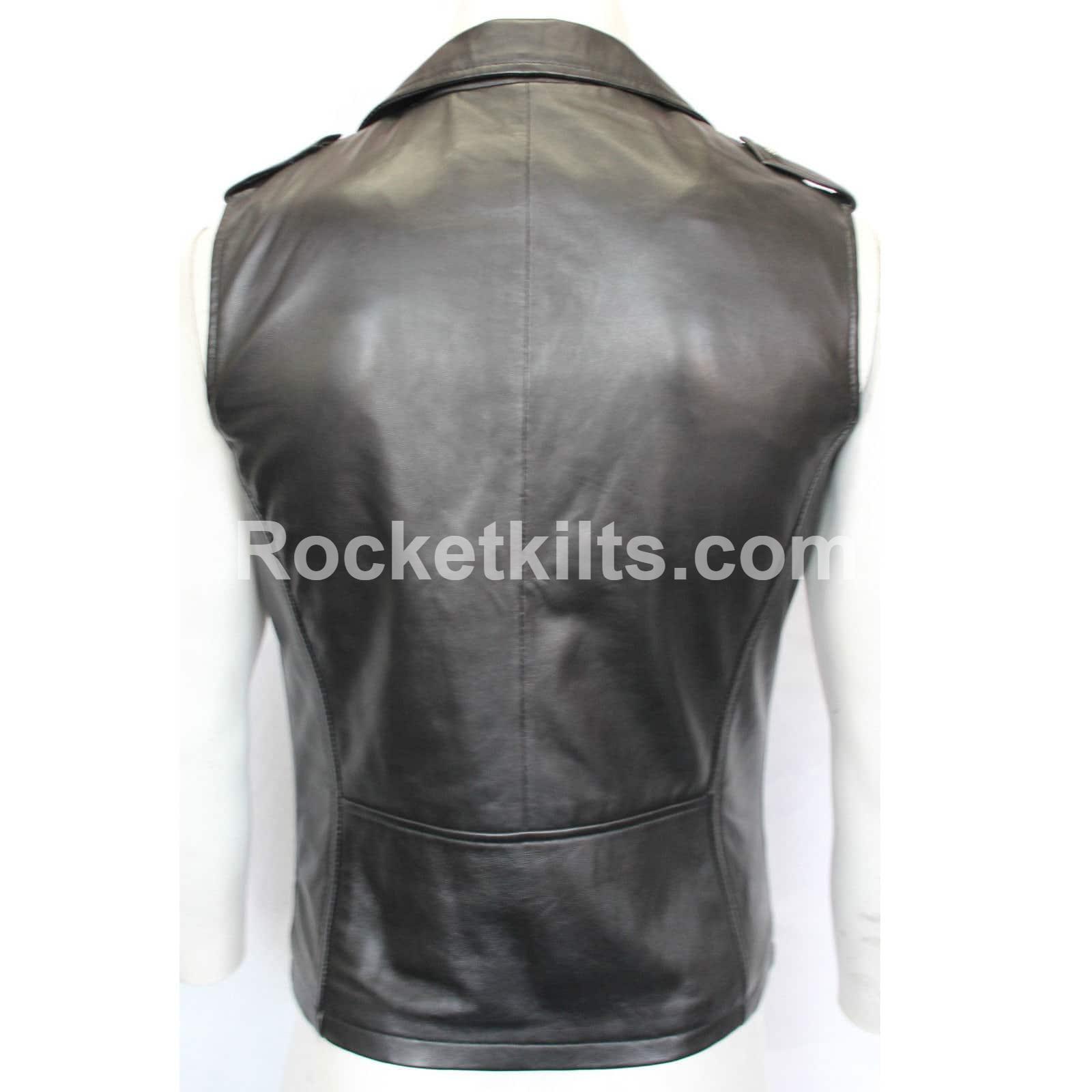 Sleeveless leather jackets