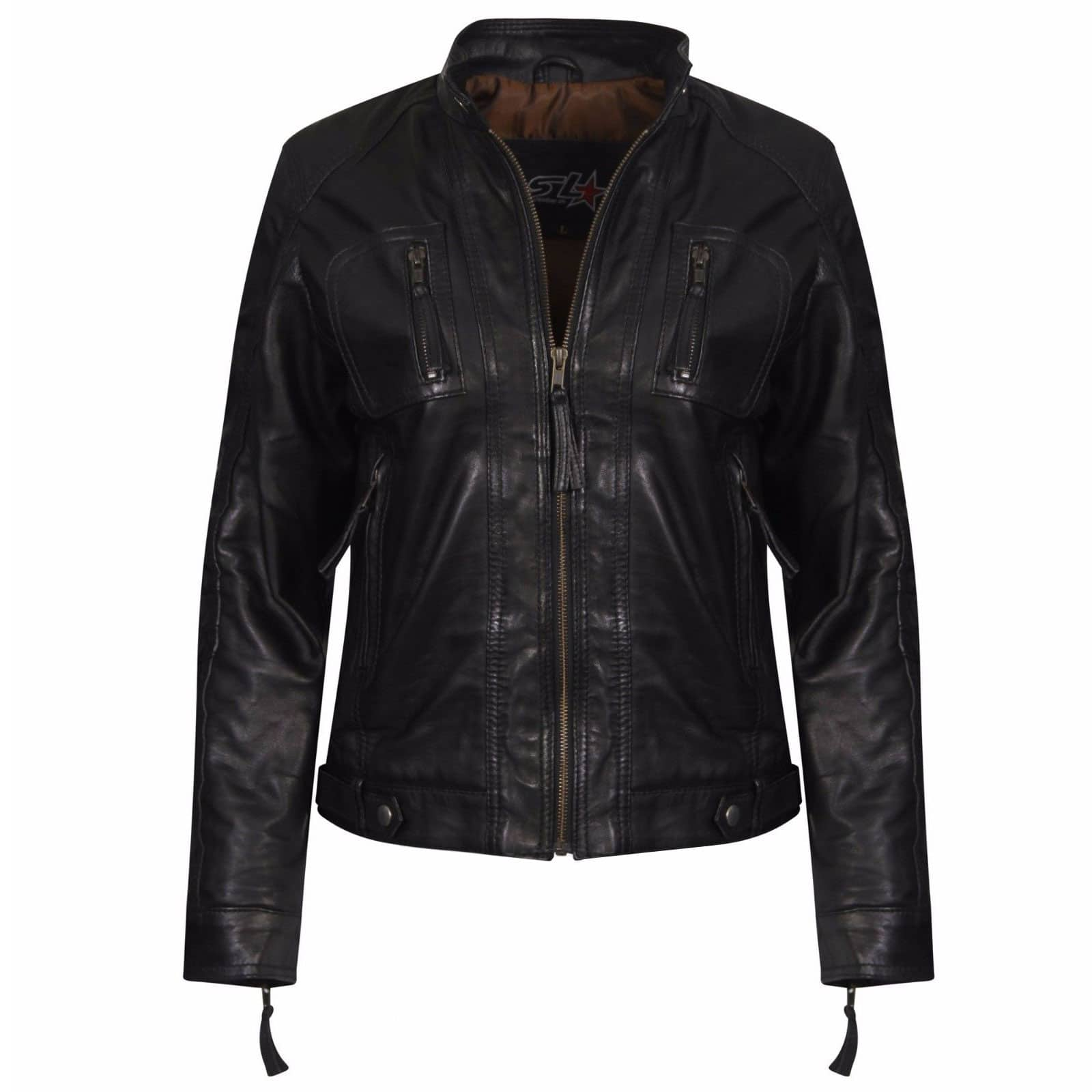The leather jacket is a closet investment that never goes out of style. Throw it over everything from cocktail dresses to denim and tees, for the perfect tough-luxe tanahlot.tk a classic black leather biker for instant cool or pick up on contrast sleeves, knit collars, studs or bright hues for a fresh twist.