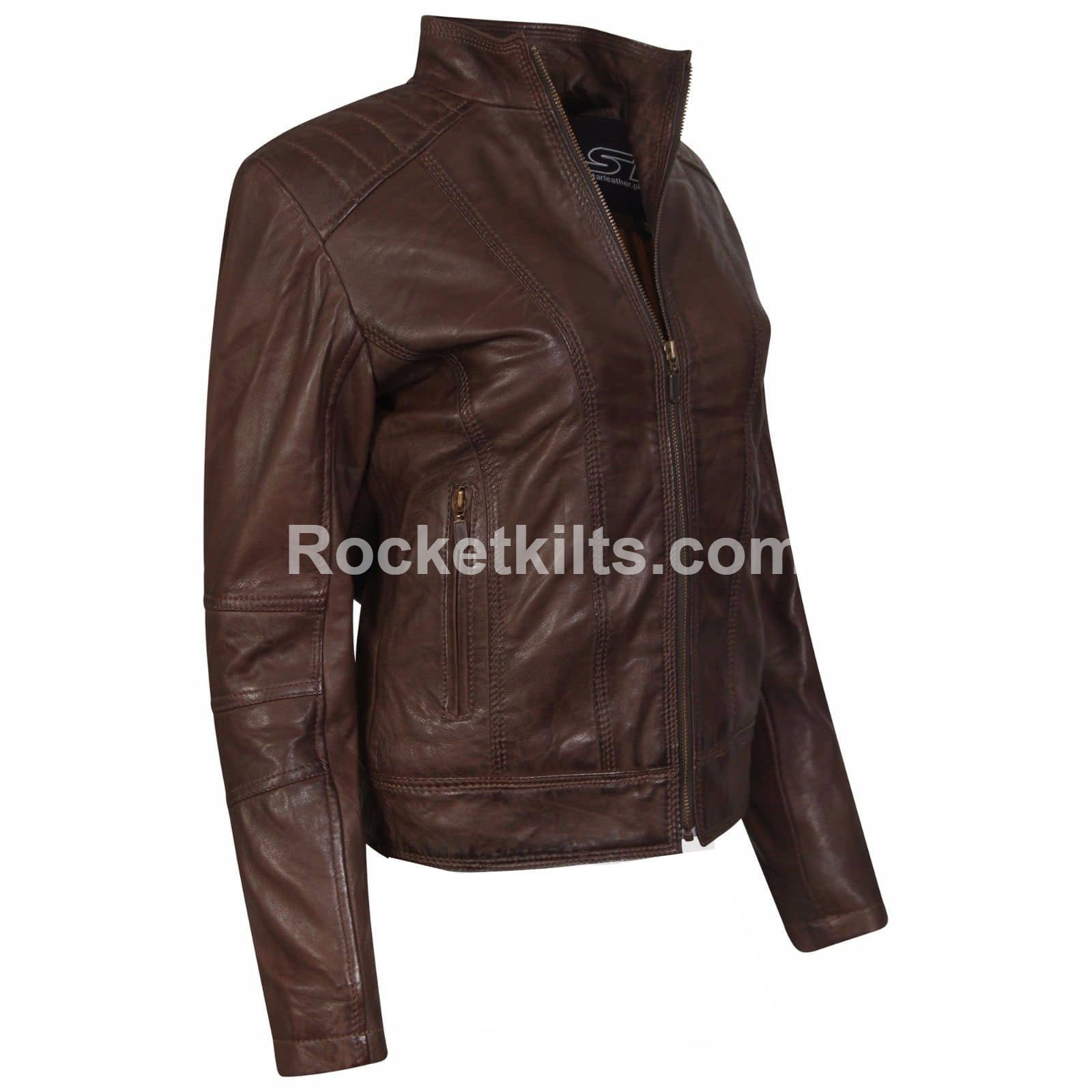 New Style Brown Leather Jacket for Women| Leather Jackets