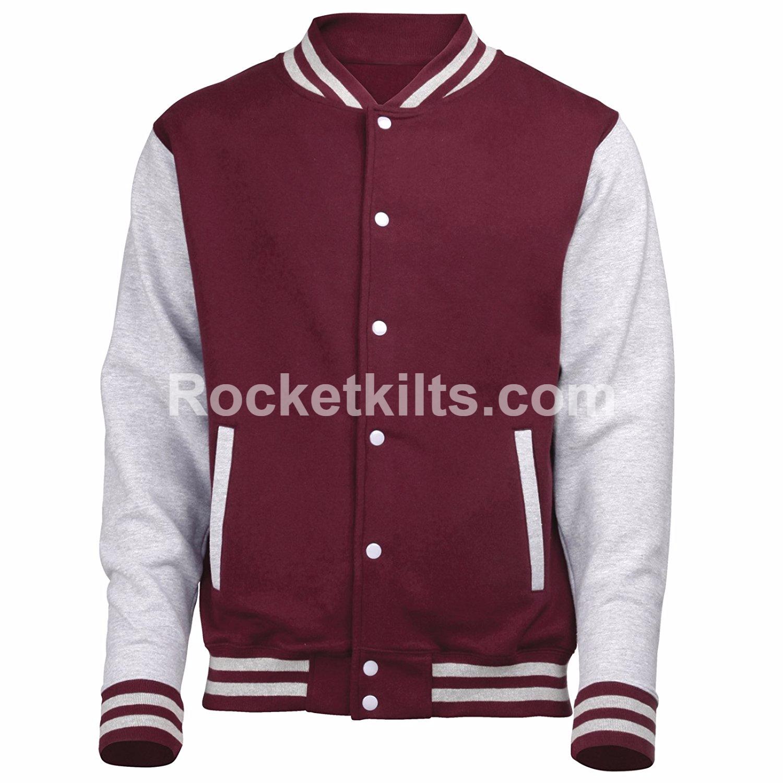 White and Black Varsity Jacket Gift Made for men| Black Varsity Jacket