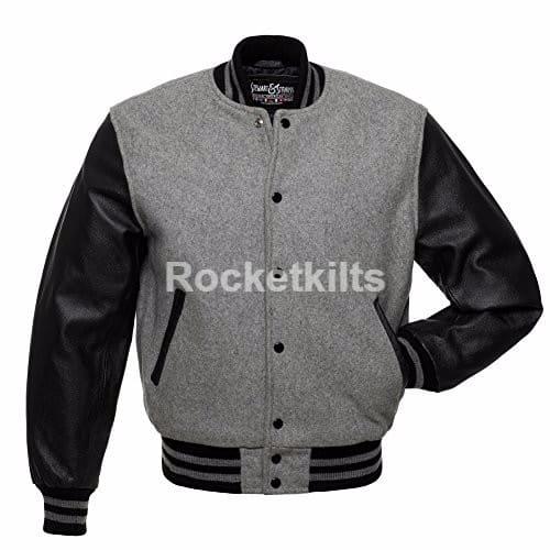 newest 42bd9 bb021 ... letterman varsity jacket,mens wool jacket blue,mens wool jacket,  genuine leather sleeves  ALL BLACK ...